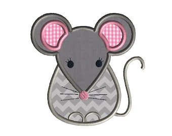 Little Mouse Applique Machine Embroidery Design-INSTANT DOWNLOAD