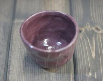 Vorbereitung Schälchen - Pflaume Design - abstrakte Bambus Muster - rustikale lila Geschirr - Gourmet-Küche - handgeschnitzte Geschenk gemacht