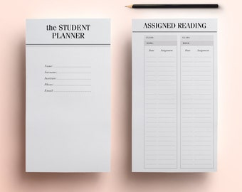printable homework planner for college students
