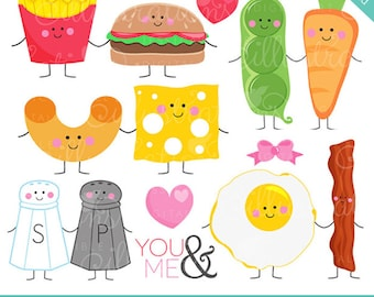 Perfect Pair V2 Cute Digital Clipart - Commercial Use OK - Things that Go Together, Pairs, Valentine Graphics, Valentine Clip art