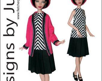 "PDF Contemporary Pattern for 16"" Deja Vu Dolls Tonner"