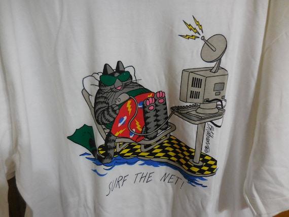 Vintage NOS KLIBAN Cat T-Shirt