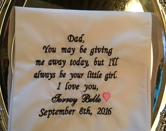 Free Shipping Father Of The Bride Wedding Handkerchief