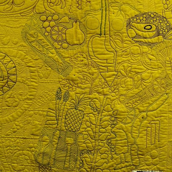 Textile art. Quilt art wall. Fiber art wall hanging A Big