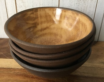 Ceramic Bowl Set, Handmade Pottery Bowl Set, Ceramic Small Bowl Set, Modern Rustic Ceramic Bowls, Snack Bowl Set of 4, Multicolor Bowls