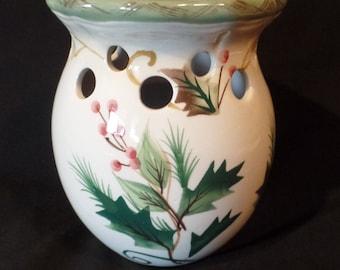 Holly Decor Vintage Ceramic Potpourri Tart Warmer/Burner