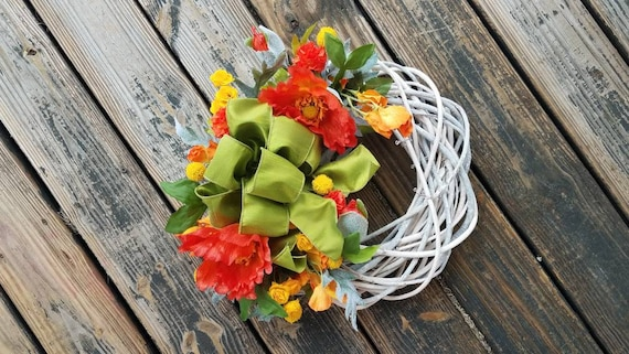 Spring Wreath, Summer Wreath, Mother's Day Wreath, Mother's Day Wreath, Wedding Wreath, Ready to Ship