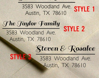 Custom Address Stamp - Calligraphy - Wedding Invitation rubber stamp / Save the Date Address rubber stamp - by Blossom Stamps