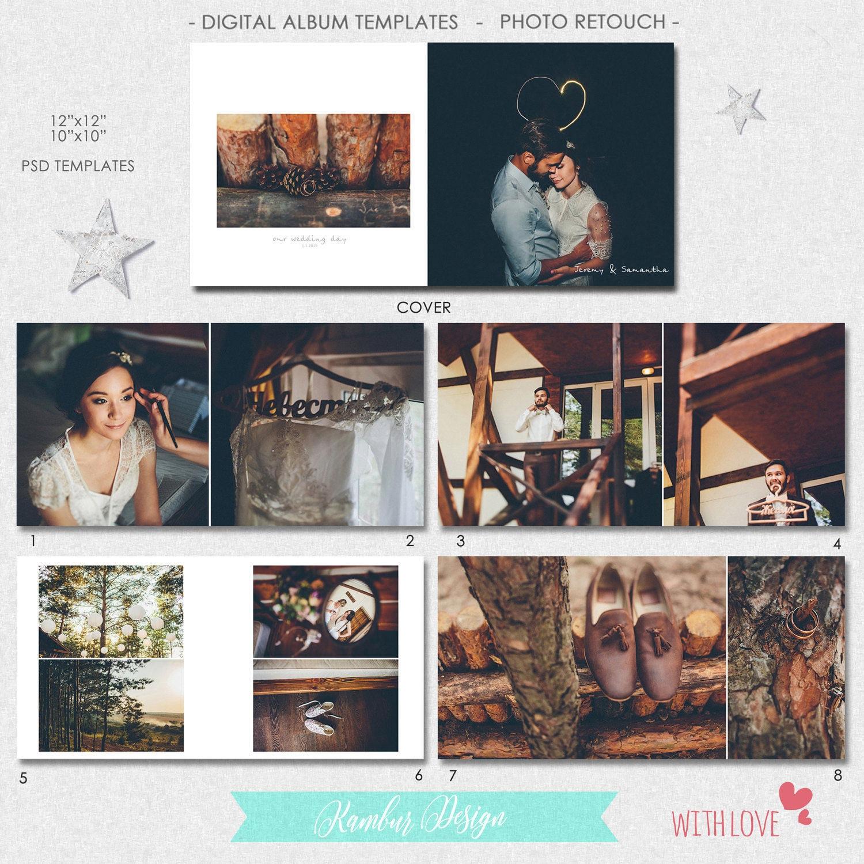 PSD 10 X 10 12 x 12 40 páginas plantilla de álbum de boda