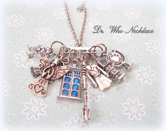 Dr Who Necklace, Dr Who Gift, Gift for Dr Who Fan, Dr Who Jewelry, Gifts for Her, Tardis Necklace, Doctor Who Jewelry, Doctor Who Gift