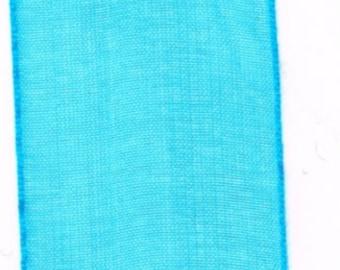 light and translucent turquoise chiffon Ribbon