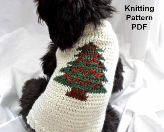Christmas Dog Sweater Knitting Pattern Pdf For Small Dogs