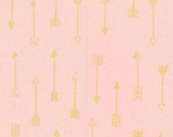 SALE - Michael Miller - Arrow Flight Collection - Arrows in Blush Metallic