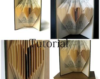 DIY Tutorial for Folded Book Art - Folded Heart - Instant Download