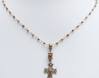 Sacred Heart Cross Necklace
