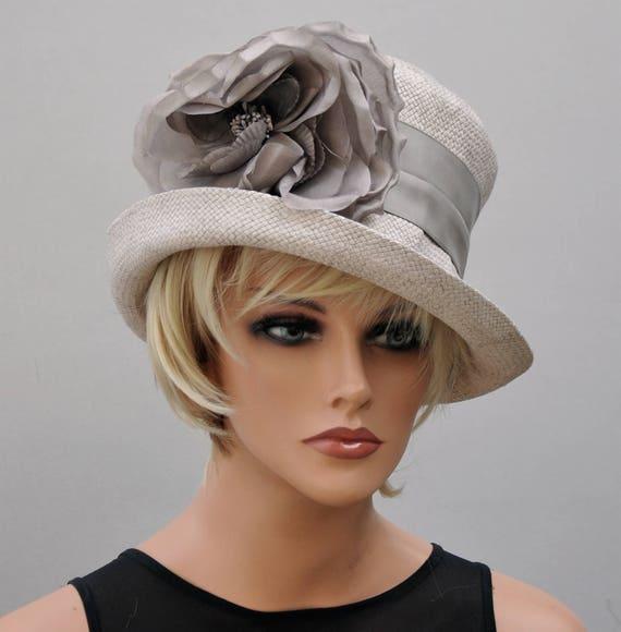 Wedding Hat, Kentucky Derby Hat, Derby Hat, Taupe Hat, Formal Hat, Occasion Hat