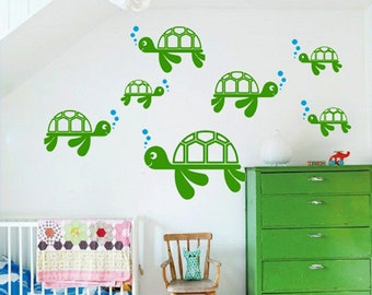 Helicopters and clouds vinyl wall sticker