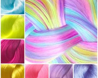 Nylon Doll Hair, Custom Color Blend, Unicorn Dreams, Tress, Rerooting