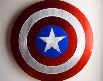Captain America Shield - Floating Metal Wall Art