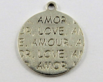 Amour Love Amour Love Sterling Silver Charm of Pendant.