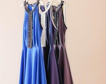 SALE S Royal blue dress Navy dress Charcoal gray dress prom dress party dress solid spring summer sundress pleated dress