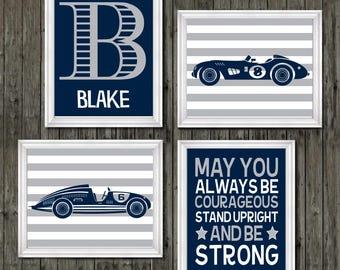 Race car nursery decor, vintage car nursery, race car nursery, racing nursery decor, boys race car nursery, race car nursery art, racing boy
