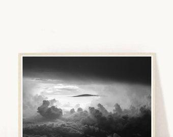 Abstract Art Print, Cloud Print, Printable Wall Art, clouds Abstract, Modern Wall art, Digital Art, Instant Download, Grey Abstract