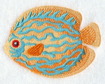 Blue Hue Bayou Embroidered  on a Flour Sack Towel Hand Towel Dish Towel