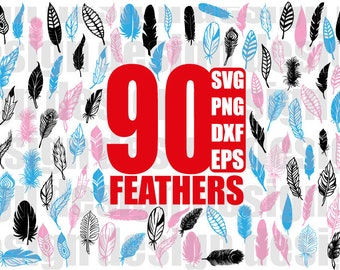 FEATHER SVG, feathers svg, feathers clipart, feather clipart, feather png, feathers png, clipart, stencil, vinyl cut files, iron on files