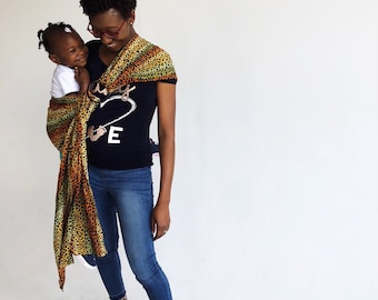 African Print Ring Sling, Cotton  Sling , Baby Sling, Baby Carrier, Egornomic Carrier