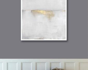 Abstract Landscape Print on Paper, Large Paper Print, Minimal, Minimalist Art, Gray Art Wall Decor, Landscape Art
