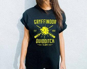 Gryffindor Quidditch, Gryffindor T-shirt, Quidditch Shirt, Harry Potter Top, Quidditch Clothing, Apparel Quidditch, Harry Potter, Potter Top