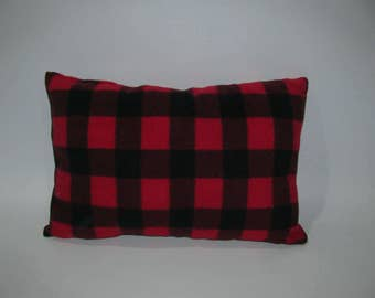 rustic cushion, red Plaid
