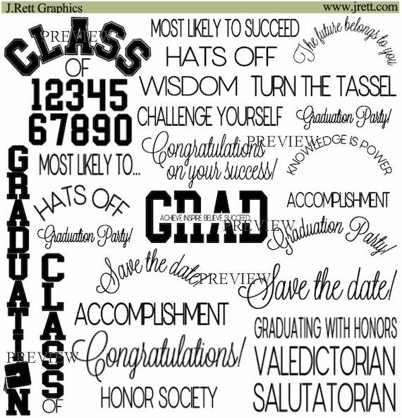 Schwarze Graduierung Clipart mehr Farben Graduierung Wort