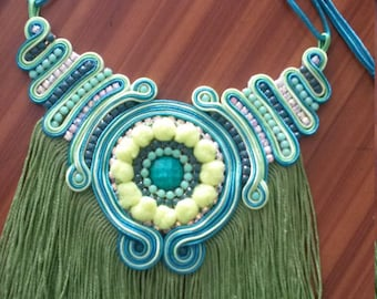 fringed necklace design soutache my kmi
