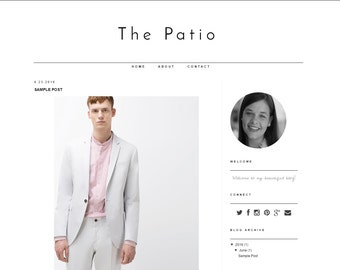 Responsive Blogger Template The Patio - Fully Responsive and 100% mobile friendly