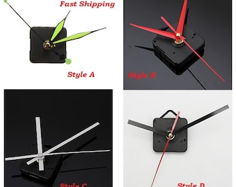 DIY Quartz Wall Clock Movement Mechanism 4 Styles  USA SELLER with Fast Shipping