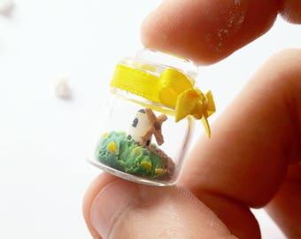 1:12 dollhouse miniature scene windmill in jar / scale one inch dollhouse windmill miniature /  Miniature Netherlands windmill scene