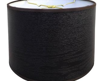 Royal Designs Black Wood Texture Hardback Lamp Shade