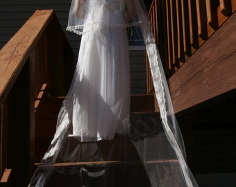 3 tiered cathedral veil