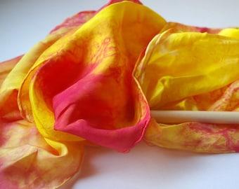 Play Silk Wand : Twirligig 'Bright Sunrise' (Playsilk Streamer Wand) Waldorf Inspired Outdoor Toy