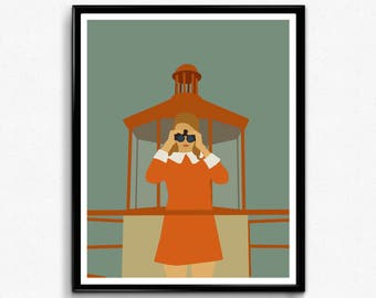 Moonrise Kingdom Movie Poster- Minimalist Movie Print, Feminist