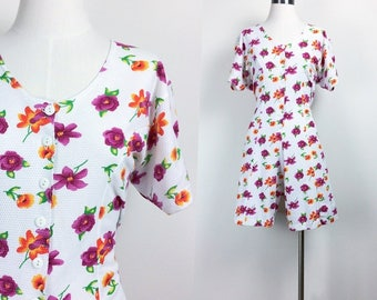 vintage floral rompers women's size S/M