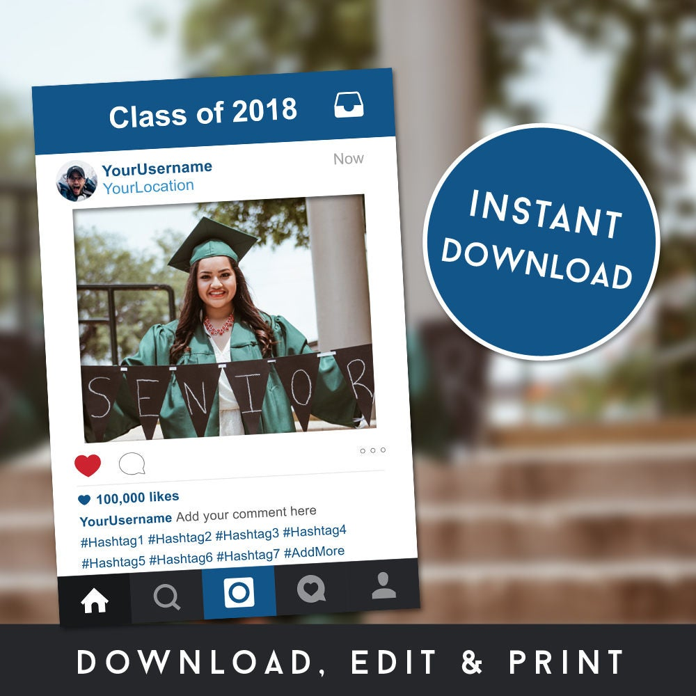 Photo Booth Frame Instagram Frame Graduation Photo Booth