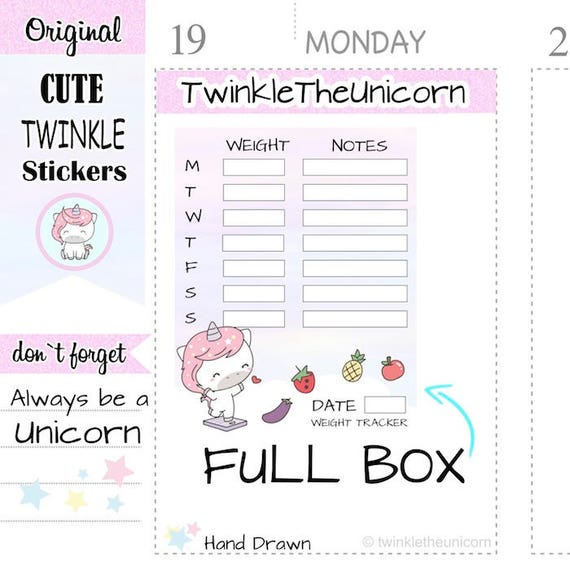 a318 weight loss planner stickers weight tracker body measurement stickers measurement stickers full box stickers full boxes stickers from