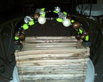 basket wood fleet vanilla and chocolate pearls