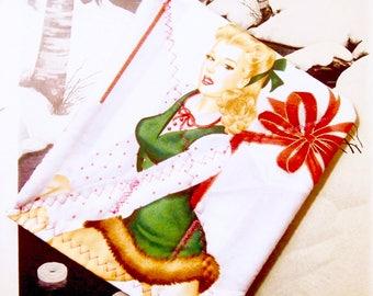 Christmas Pot holder - Pinup Girl - Figure Skater