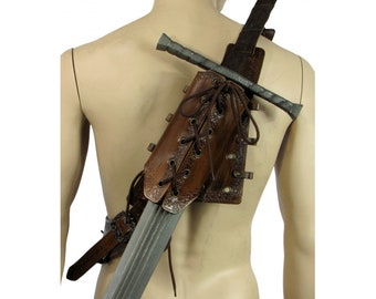 Leather Backscabbard, perfect with our bandolier