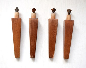 Vintage Wooden Furniture Legs 60's Wooden Table Legs Bedside Table Нome dekor mid century