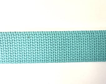AQUA New Color Heavyweight Cotton Webbing for Key Fobs Purses